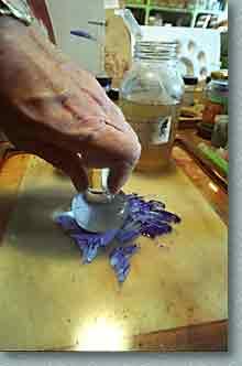 Lost pigment op in olie